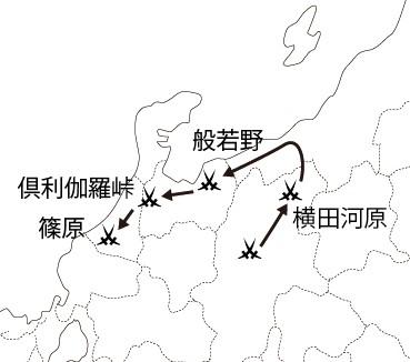 木曽義仲 進撃経路